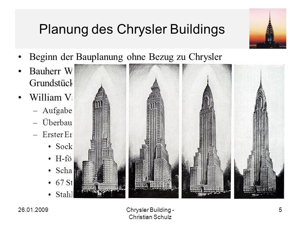 Planung des Chrysler Buildings