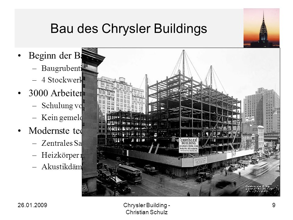 Bau des Chrysler Buildings