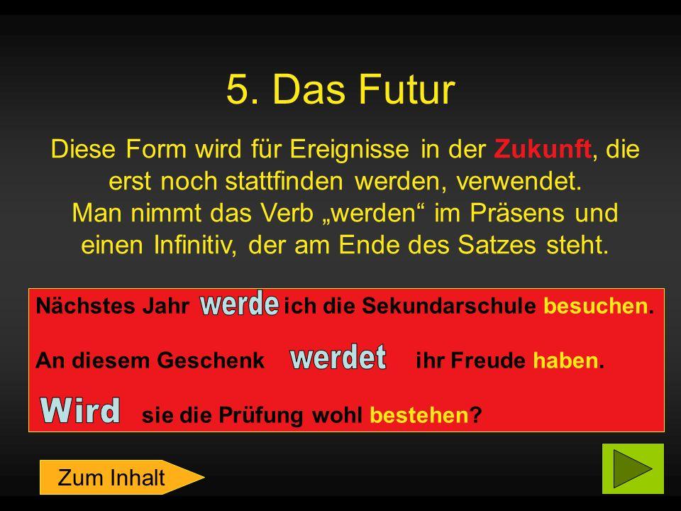 5. Das Futur werde werdet Wird