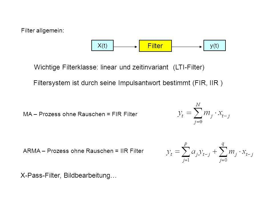 Wichtige Filterklasse: linear und zeitinvariant (LTI-Filter)