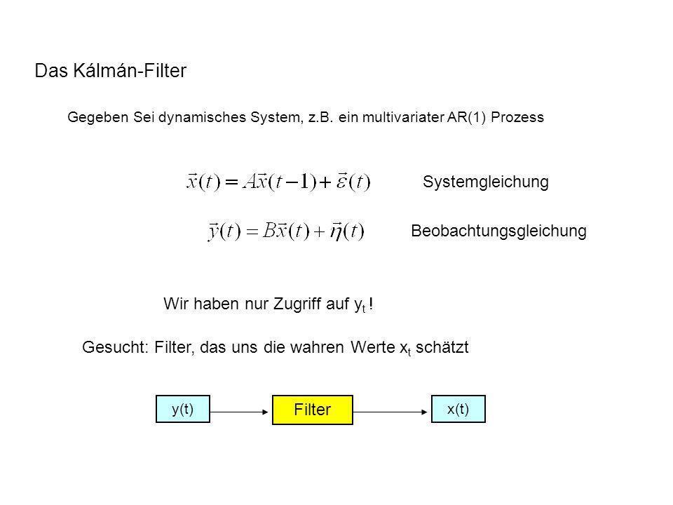 Das Kálmán-Filter Systemgleichung Beobachtungsgleichung
