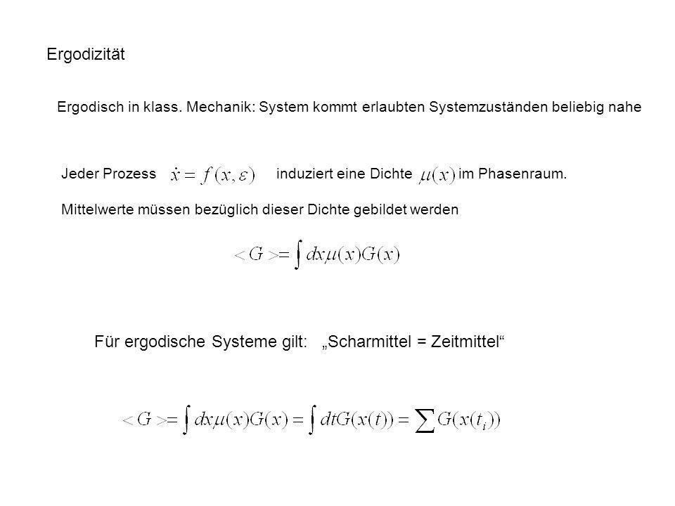 """Für ergodische Systeme gilt: """"Scharmittel = Zeitmittel"""
