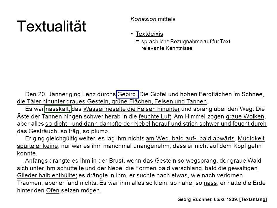 Textualität Kohäsion mittels Textdeixis