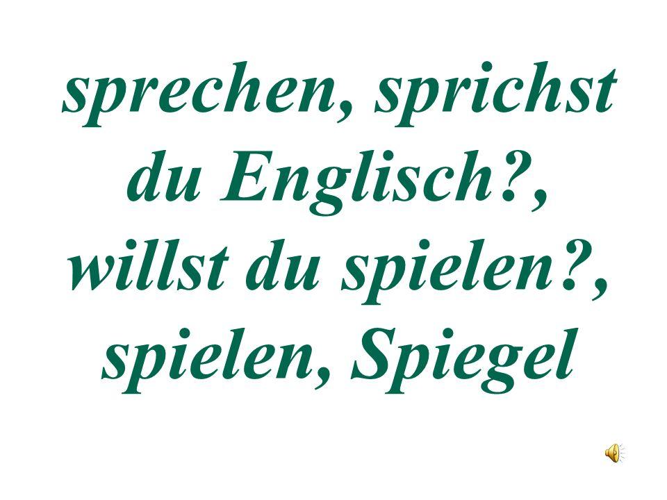 Deutsch f r wunderkinder ppt for Spiegel englisch