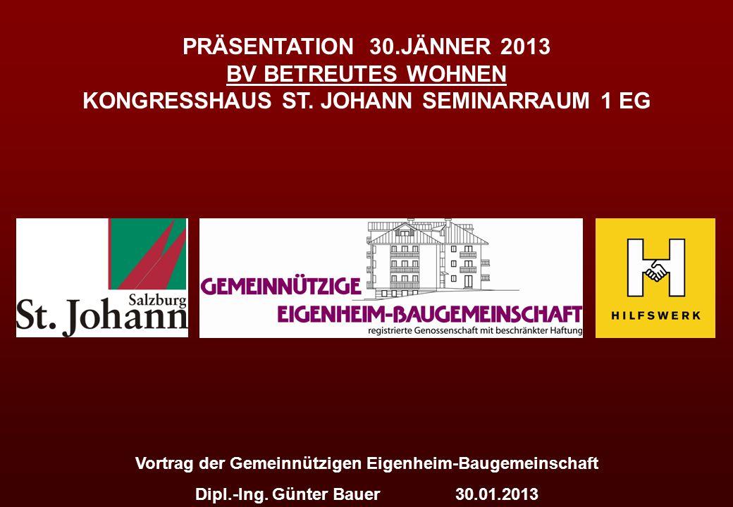 Vortrag der Gemeinnützigen Eigenheim-Baugemeinschaft