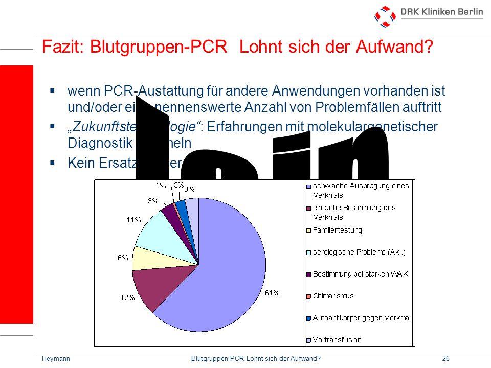 Fazit: Blutgruppen-PCR Lohnt sich der Aufwand
