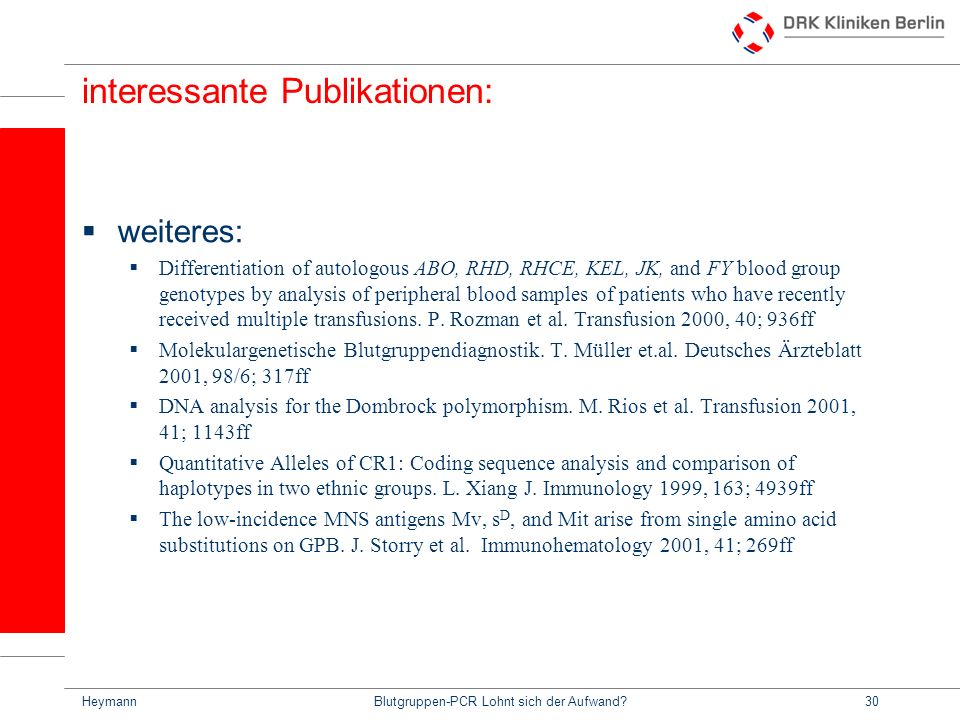 interessante Publikationen: