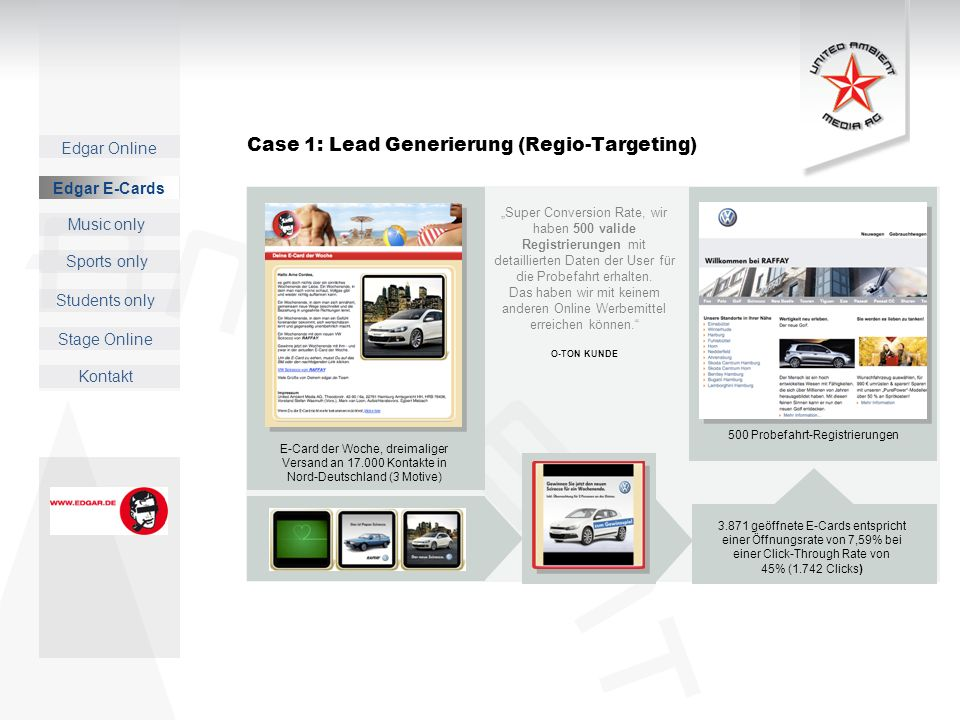 Case 1: Lead Generierung (Regio-Targeting)