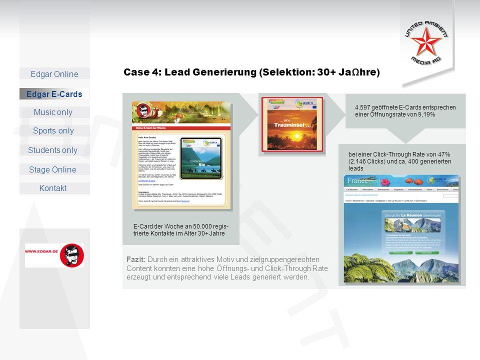 Case 4: Lead Generierung (Selektion: 30+ JaΩhre)
