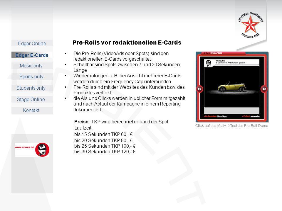Pre-Rolls vor redaktionellen E-Cards
