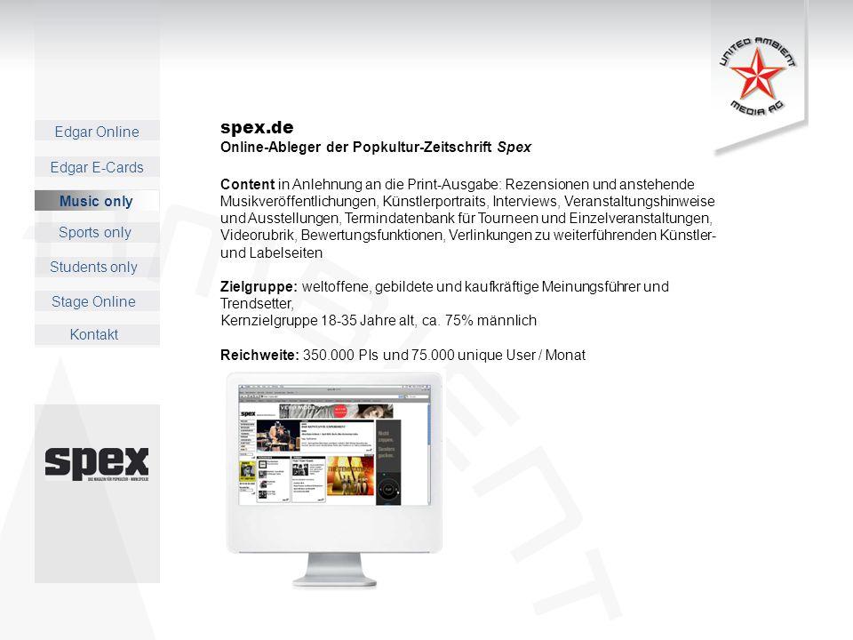 spex.de Online-Ableger der Popkultur-Zeitschrift Spex