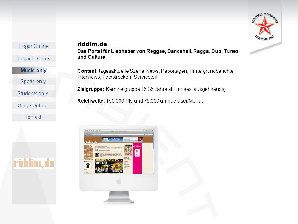 riddim.de Das Portal für Liebhaber von Reggae, Dancehall, Ragga, Dub, Tunes und Culture.