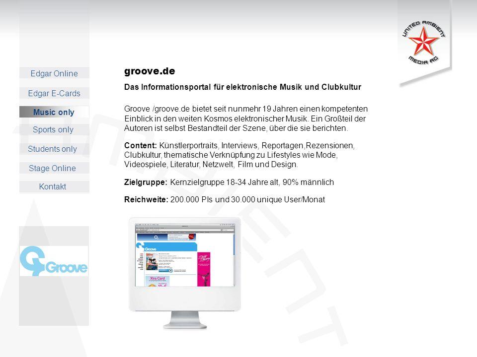 groove.de Das Informationsportal für elektronische Musik und Clubkultur.