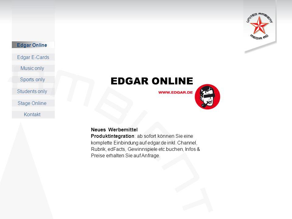 EDGAR ONLINE Neues Werbemittel Edgar Online