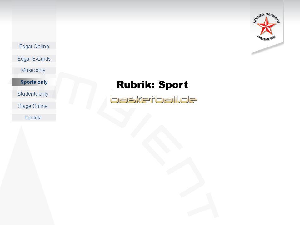 Rubrik: Sport Sports only