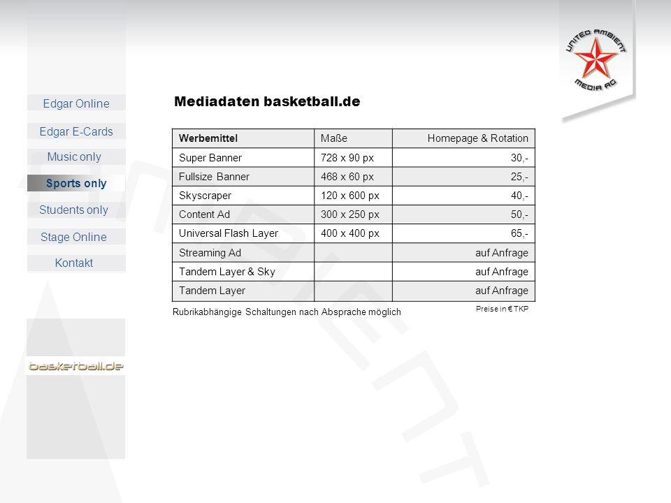 Mediadaten basketball.de
