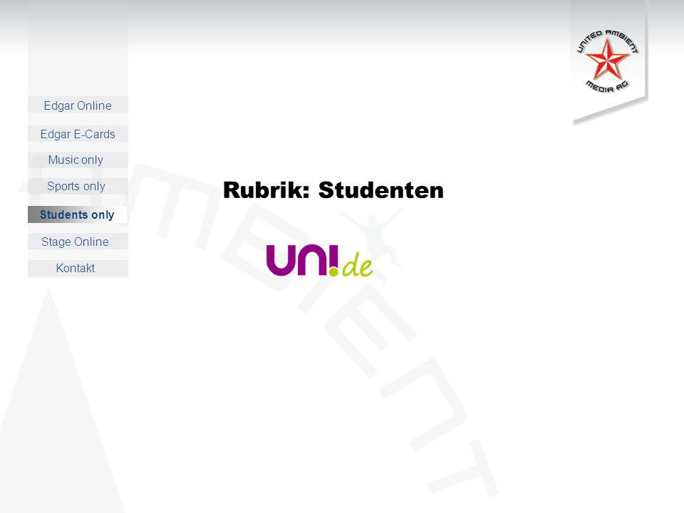 Rubrik: Studenten Students only