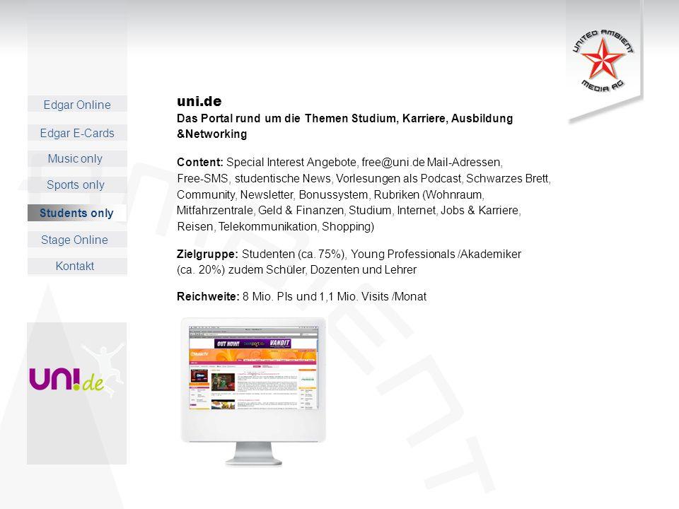 uni.de Das Portal rund um die Themen Studium, Karriere, Ausbildung