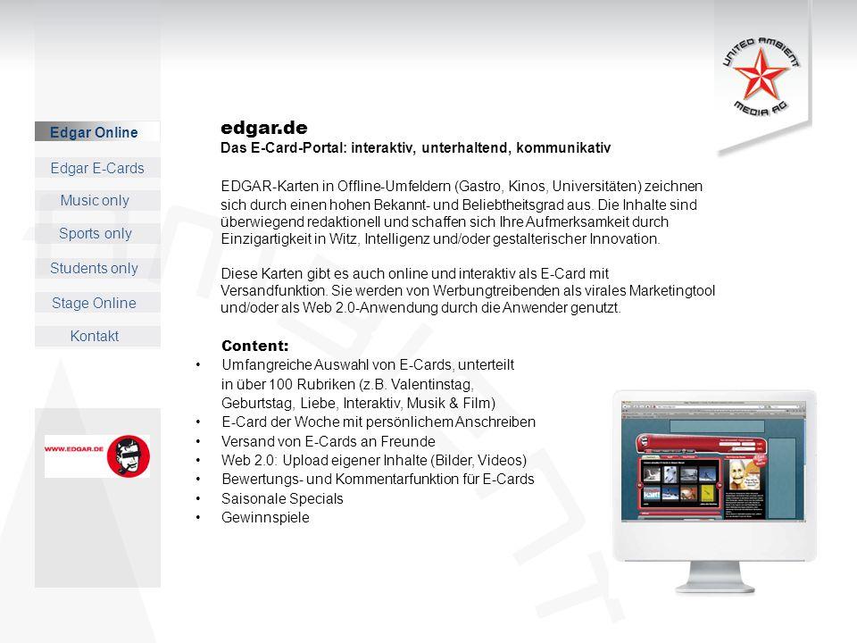 edgar.de Das E-Card-Portal: interaktiv, unterhaltend, kommunikativ