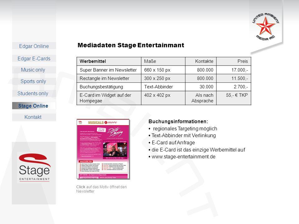Mediadaten Stage Entertainmant
