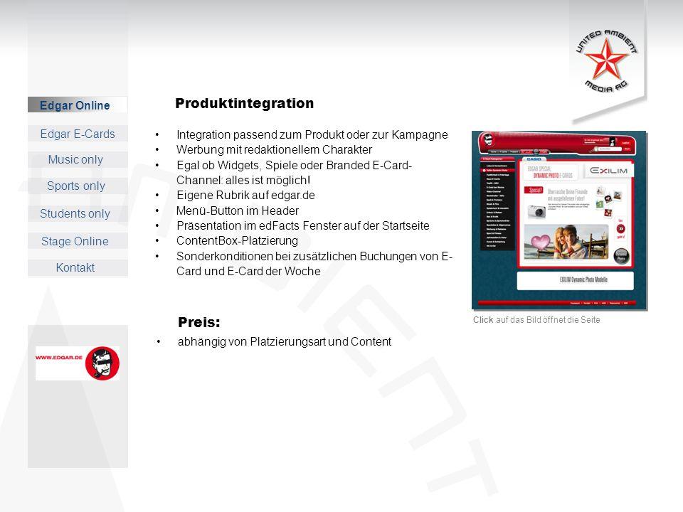 Produktintegration Preis: Edgar Online