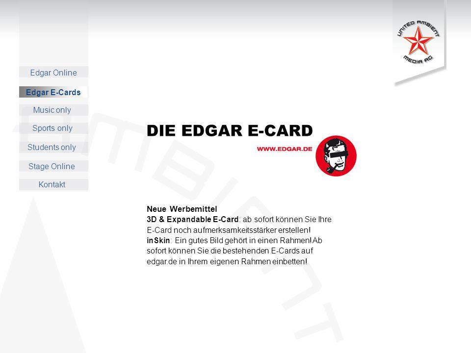 DIE EDGAR E-CARD Neue Werbemittel Edgar E-Cards