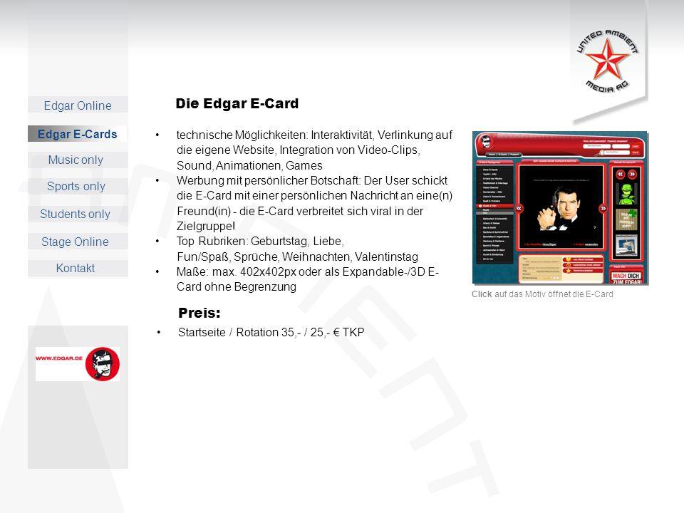 Die Edgar E-Card Preis: