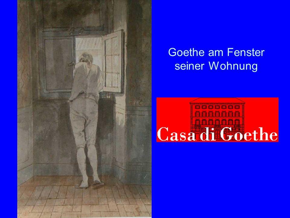 Goethe am Fenster seiner Wohnung