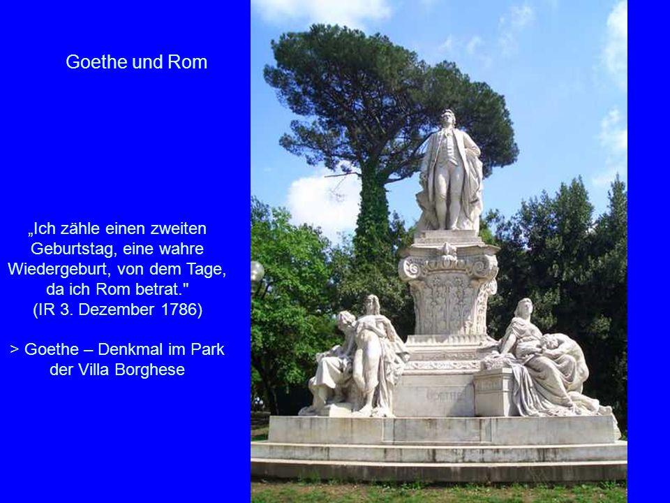 > Goethe – Denkmal im Park der Villa Borghese