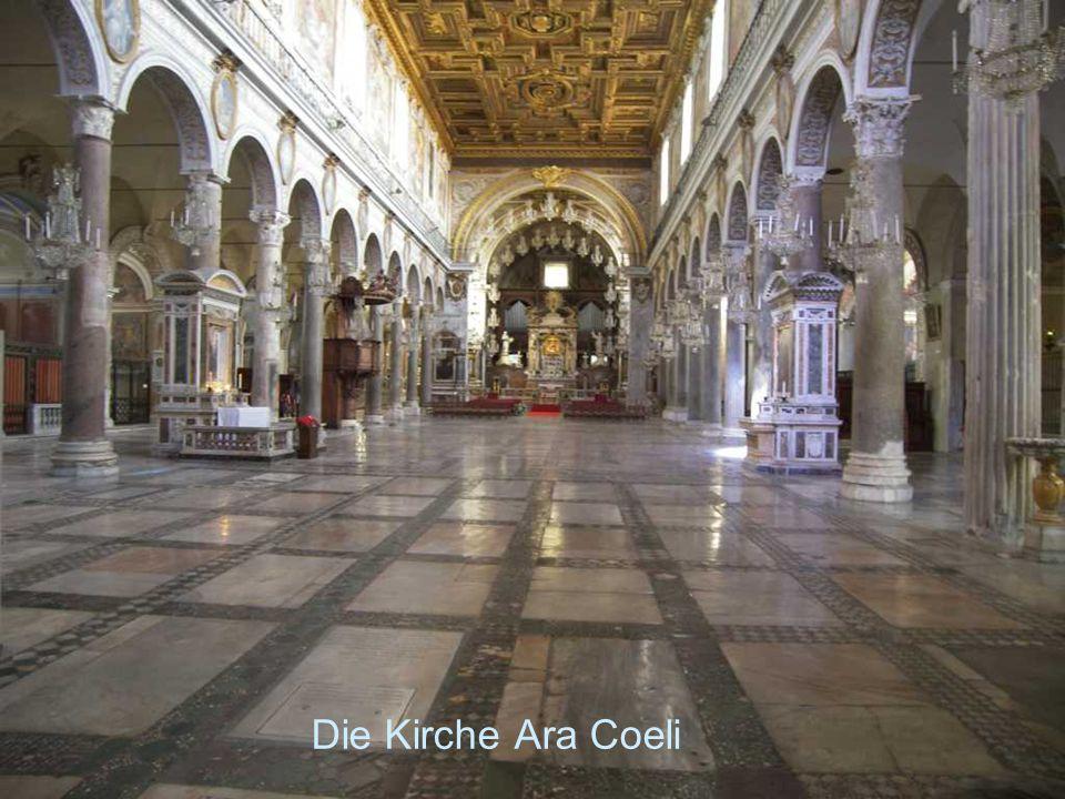 Drei volle Tage war Fest auf Ara coeli wegen der Beatifikation zweier Heiligen aus dem Orden des heiligen Franziskus. Die Dekoration der Kirche, Musik, Illumination und Feuerwerk des Nachts zog eine große Menge Volks dahin.