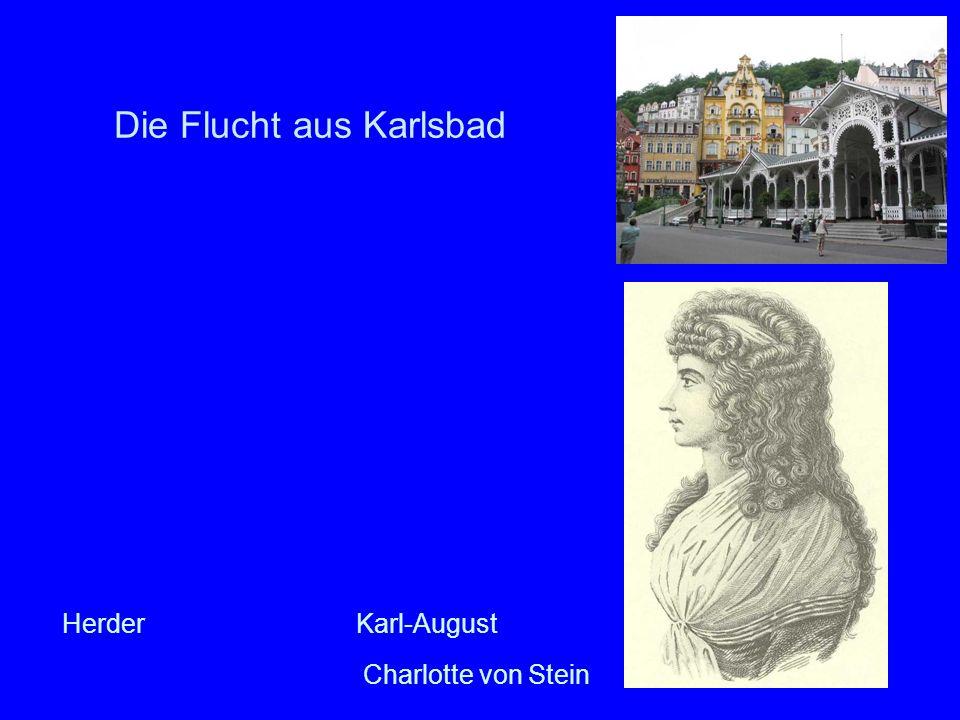 Die Flucht aus Karlsbad