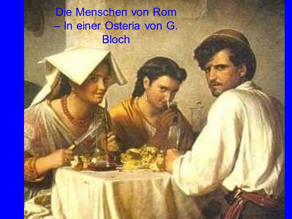 Die Menschen von Rom – In einer Osteria von G. Bloch