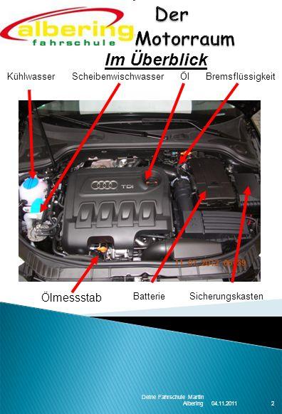 Der Motorraum Im Überblick Ölmessstab 2