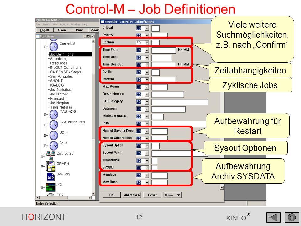 Control-M – Job Definitionen