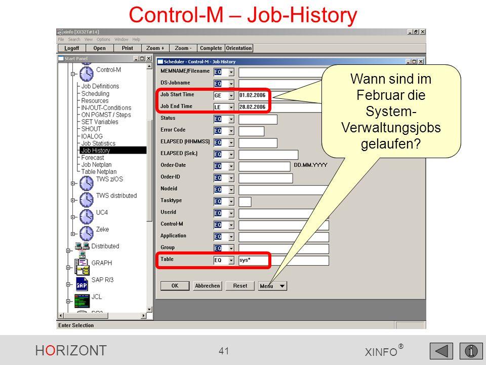 Control-M – Job-History