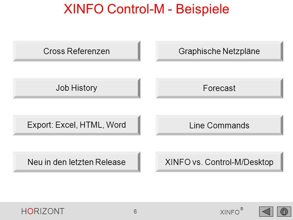 XINFO Control-M - Beispiele