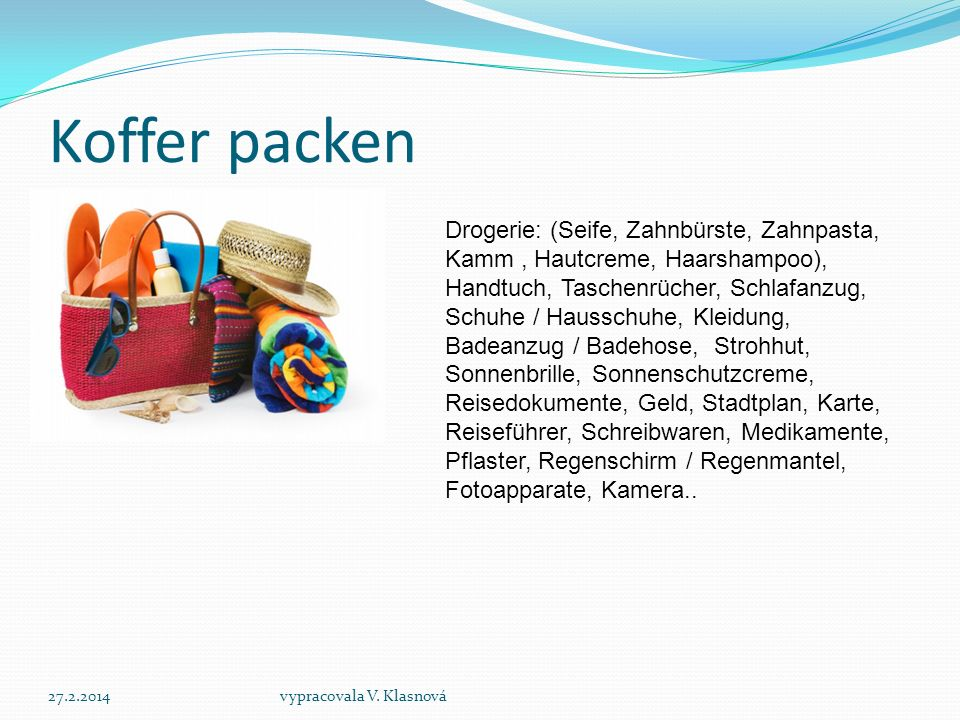 Koffer packen