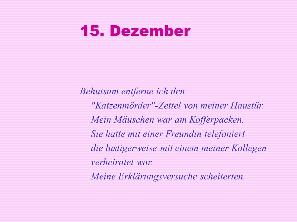 15. Dezember