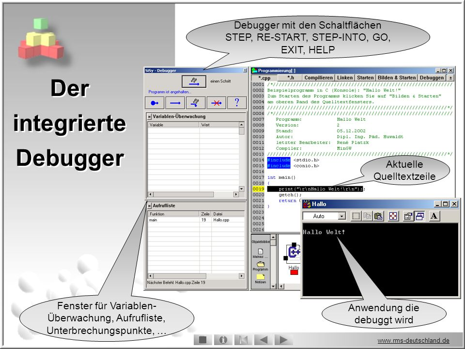 Der integrierte Debugger