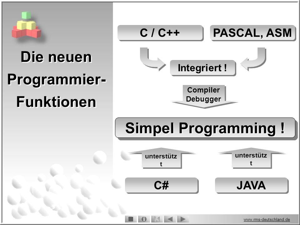Die neuen Programmier-Funktionen