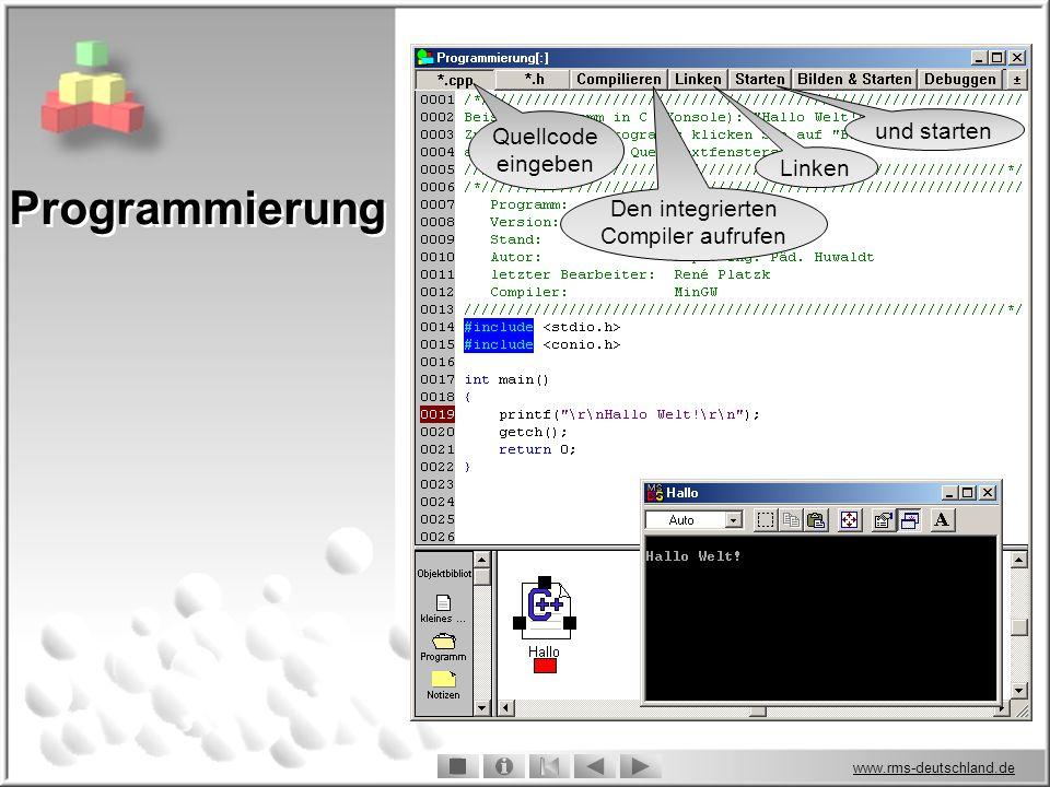 Den integrierten Compiler aufrufen