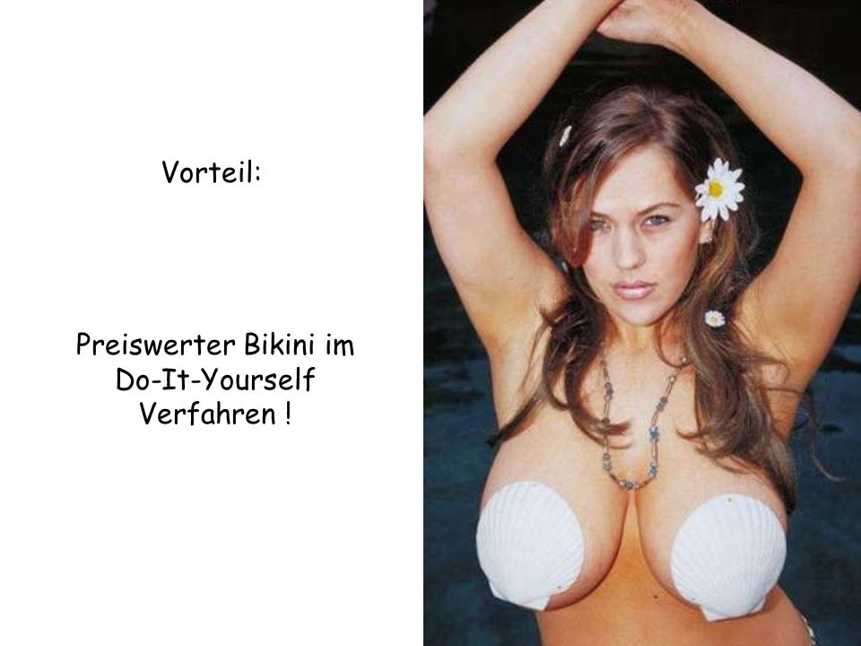 Preiswerter Bikini im Do-It-Yourself Verfahren !