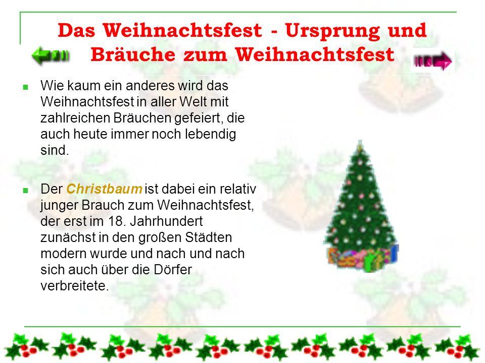 Das Weihnachtsfest - Ursprung und Bräuche zum Weihnachtsfest
