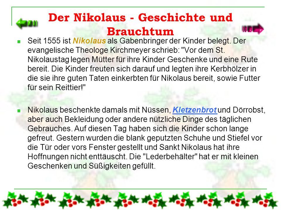 Der Nikolaus - Geschichte und Brauchtum