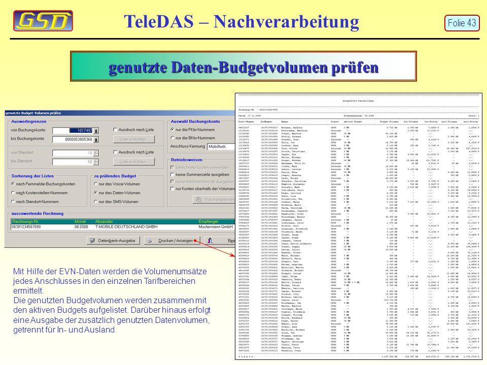 genutzte Daten-Budgetvolumen prüfen