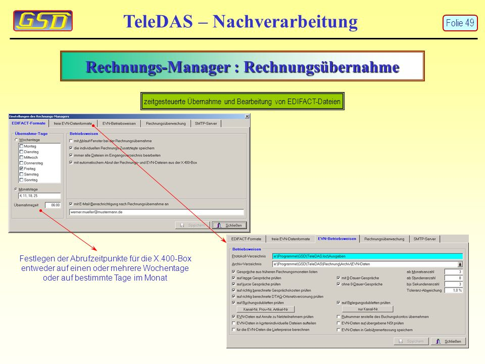 Rechnungs-Manager : Rechnungsübernahme