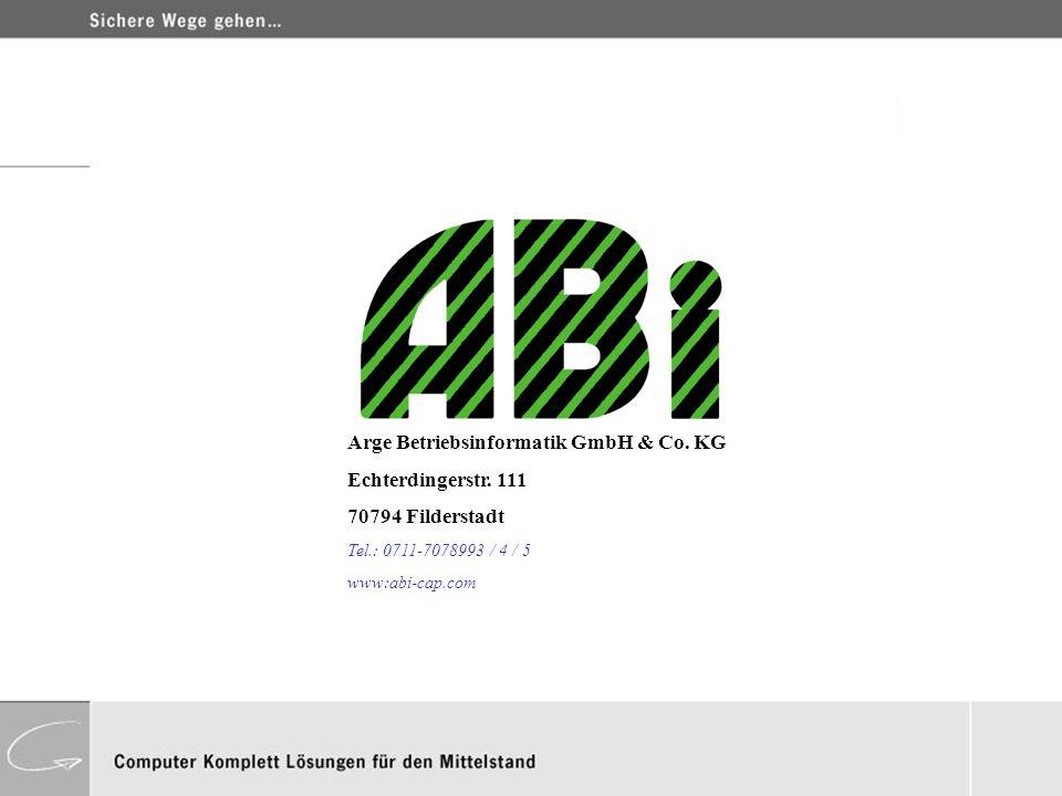 Arge Betriebsinformatik GmbH & Co. KG Echterdingerstr. 111