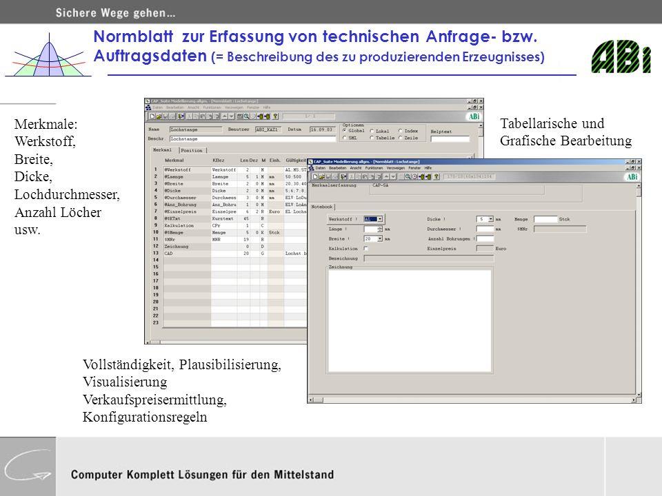 Normblatt zur Erfassung von technischen Anfrage- bzw