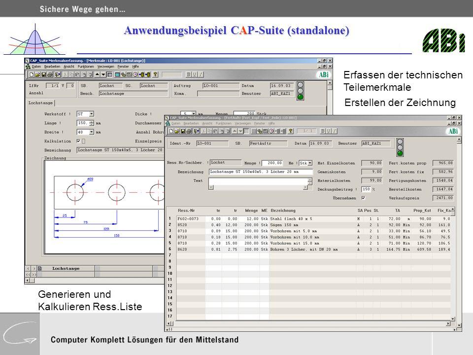 Anwendungsbeispiel CAP-Suite (standalone)