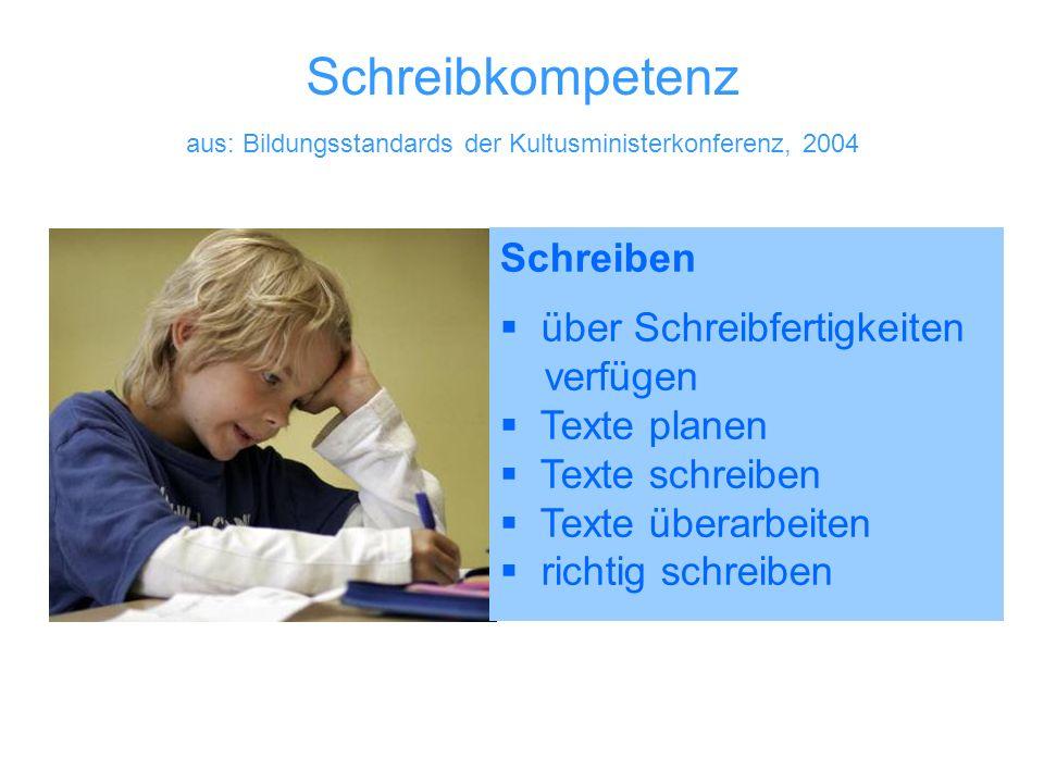 aus: Bildungsstandards der Kultusministerkonferenz, 2004